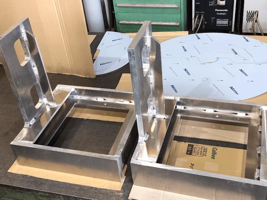 3Dテーブルシステムで作るアルミフレーム